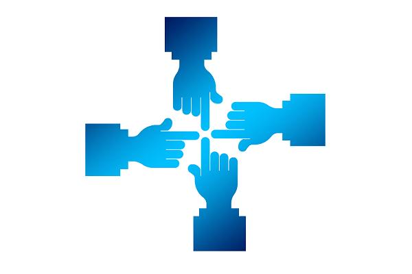 contactos profesionales dedos unidos